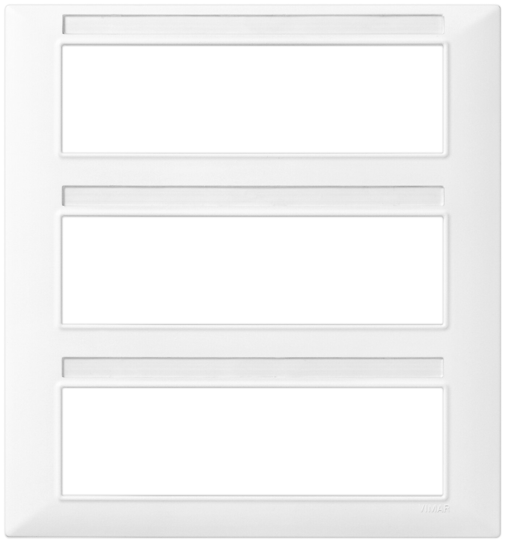 Накладка для 21 модуля (7+7+7), белая