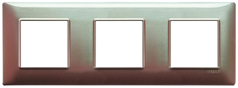 Накладка для 6 модулей (2+2+2) расстояние между центрами 71мм коричневая переливающая