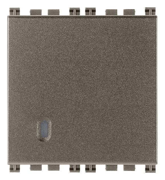 Переключатель с 4-мя контактами ( инвертор ) 1p 16ax 2 модуля, metal