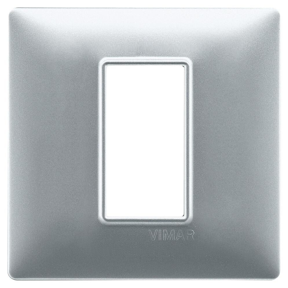 Накладка для 1 модуля серебро матовое