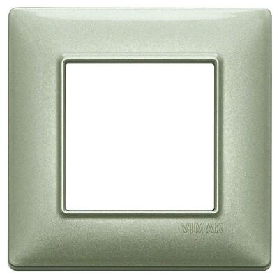Накладка для 2 модулей зеленая металлизированная