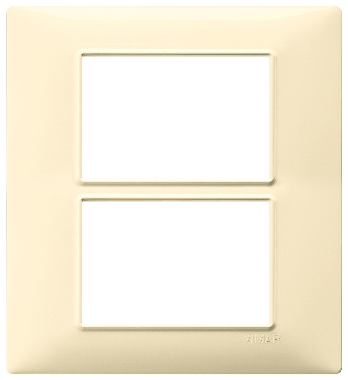 Накладка для 6 модулей (3+3) кремовая