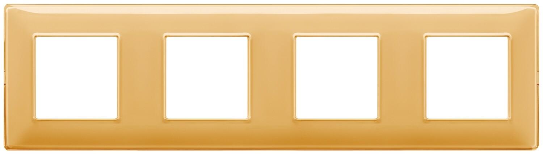 "Накладка для 8 модулей (2+2+2+2) расстояние между центрами 71мм Reflex ""янтарь"""