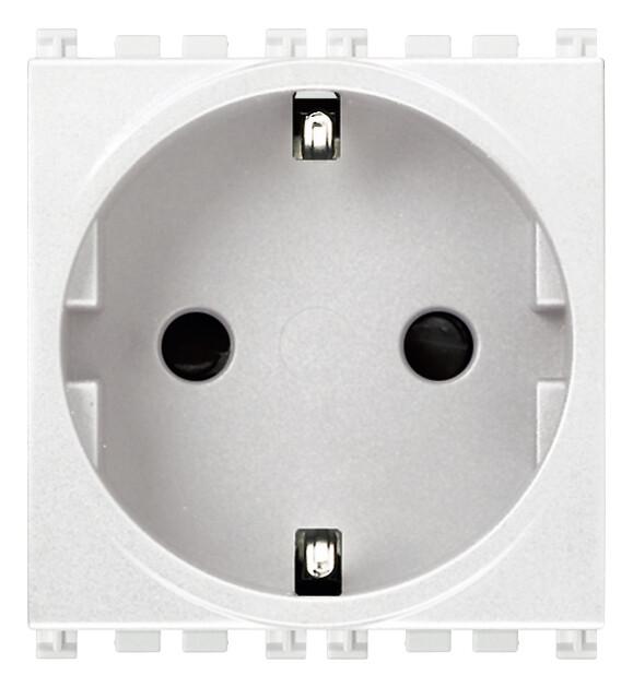 Розетка 2P+T 16A немецкий стандарт, белая