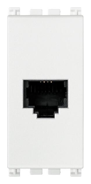 Розетка штеккер RJ11 6/4, белая