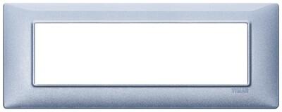 Накладка для 7 модулей синяя металлизированная