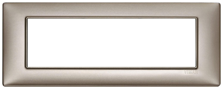 Накладка для 7 модулей никель перламутровый