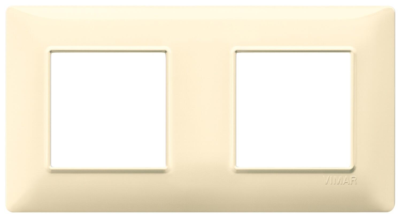 Накладка для 4 модулей (2+2) расстояние между центрами 71мм кремовая