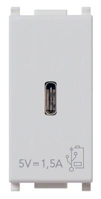 ЗарядноеустройствосразъемомUSBC5V1,5A,1модуль,серебро