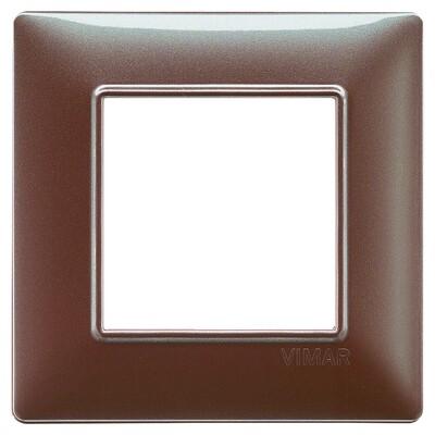 Накладка для 2 модулей коричневая переливающаяся