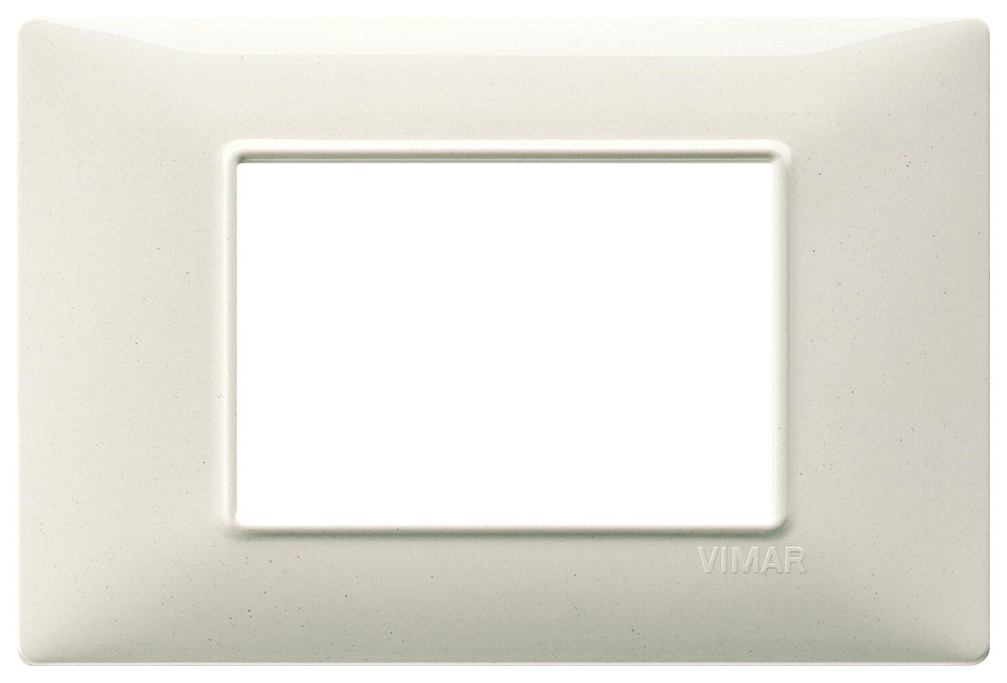 Накладка для 3 модулей белый гранит