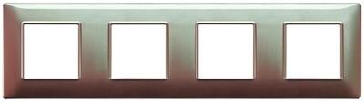 Накладка для 8 модулей (2+2+2+2) расстояние между центрами 71мм коричневая переливающаяся