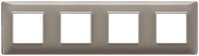 Накладка для 8 модулей (2+2+2+2) расстояние между центрами 71мм Reflex пепельная