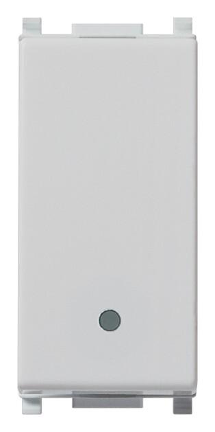 Кнопка 1p no 10a, серебро