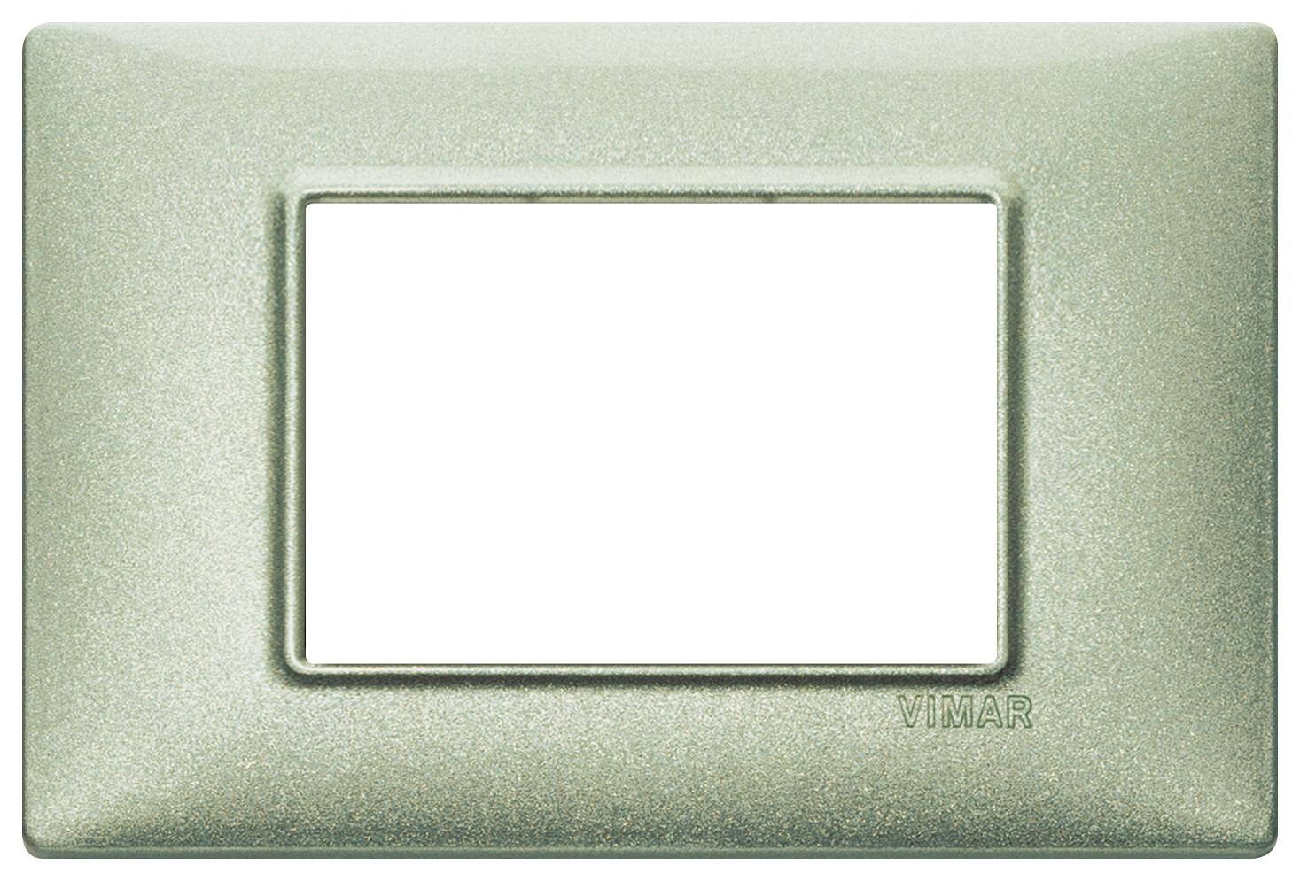 Накладка для 3 модулей зеленая металлизированная