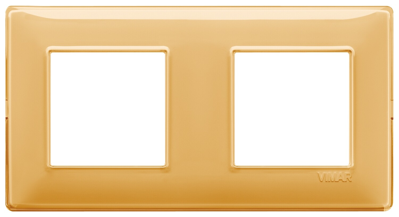 "Накладка для 4 модулей (2+2) расстояние между центрами 71мм Reflex ""янтарь"""