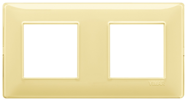 "Накладка для 4 модулей (2+2) расстояние между центрами 71мм Reflex ""лимон"""