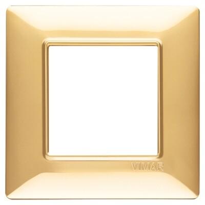 Накладка для 2 модулей золото блестящее