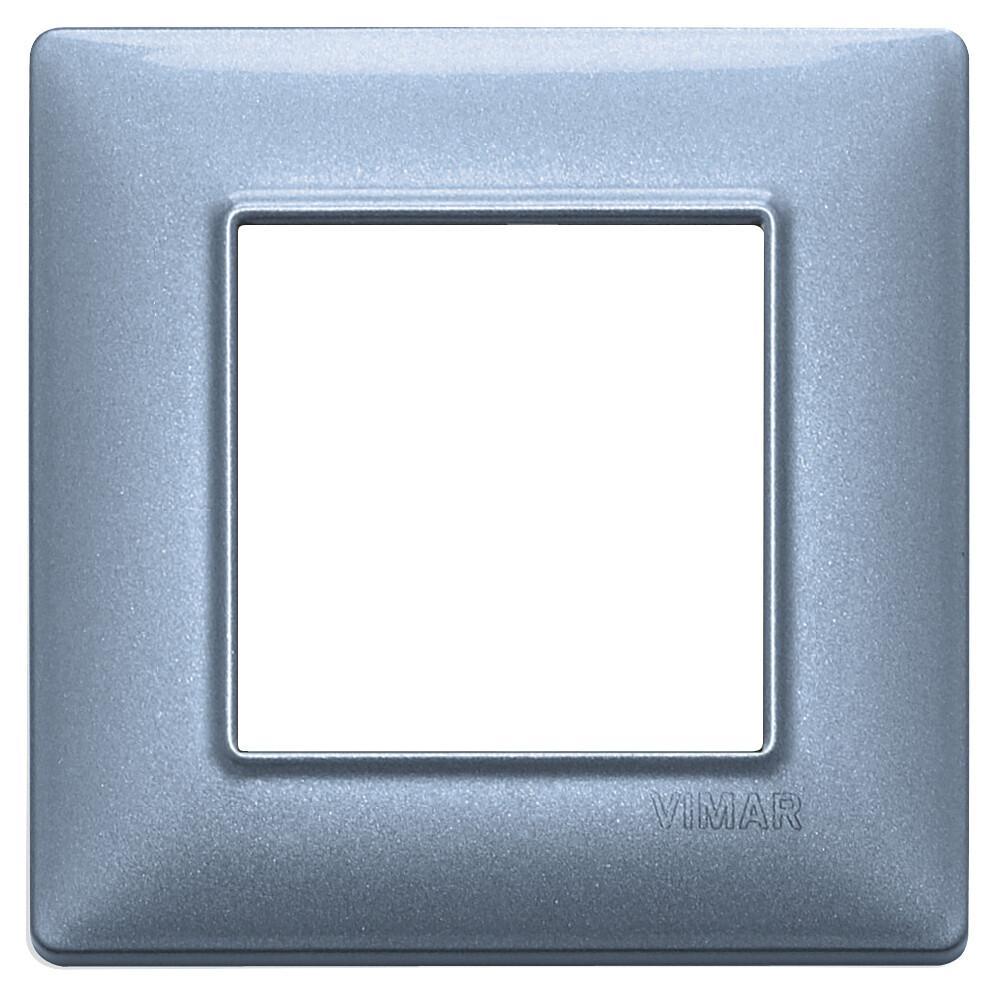 Накладка для 2 модулей синяя металлизированная