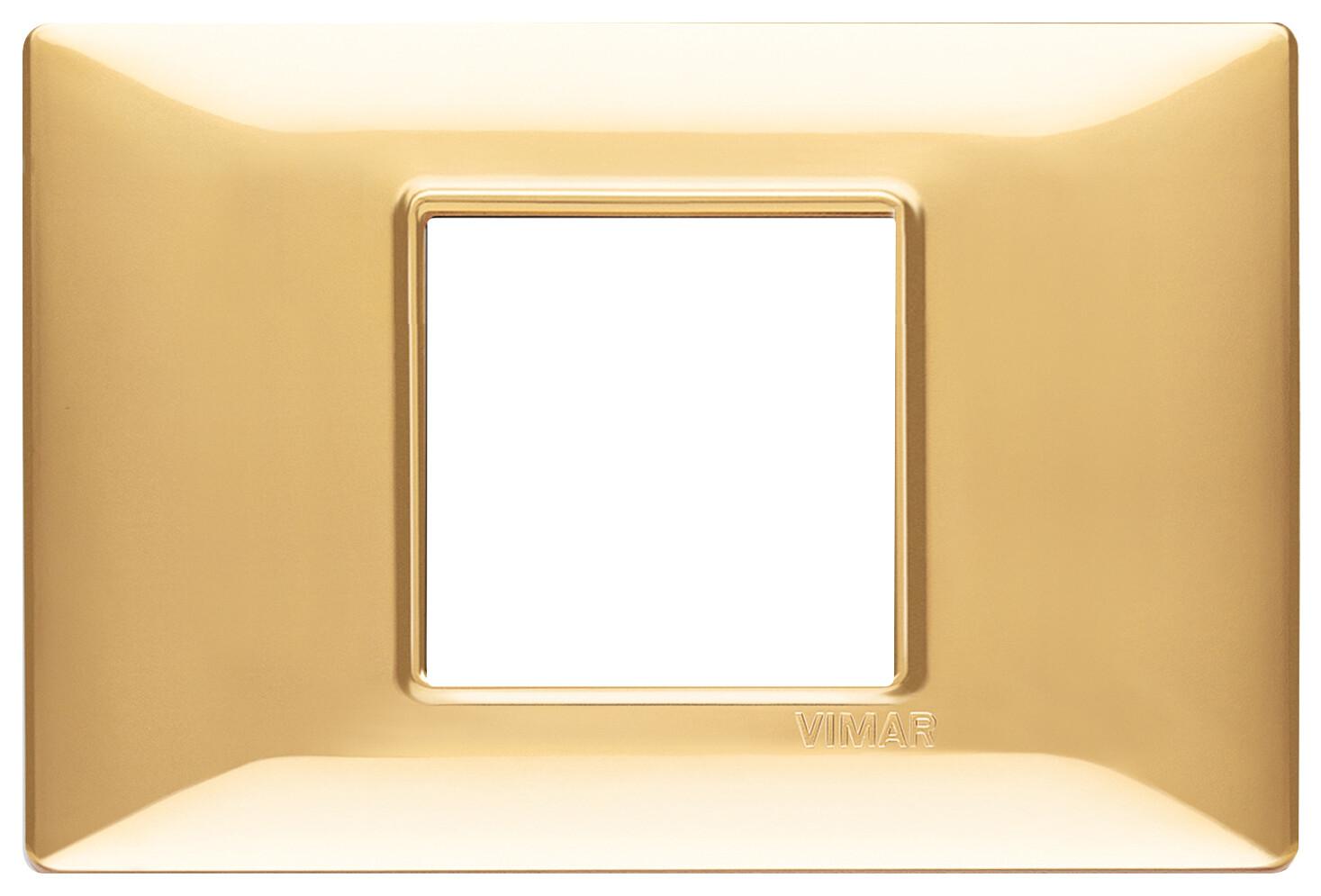 Накладка для 2 модулей центрально золото блестящее