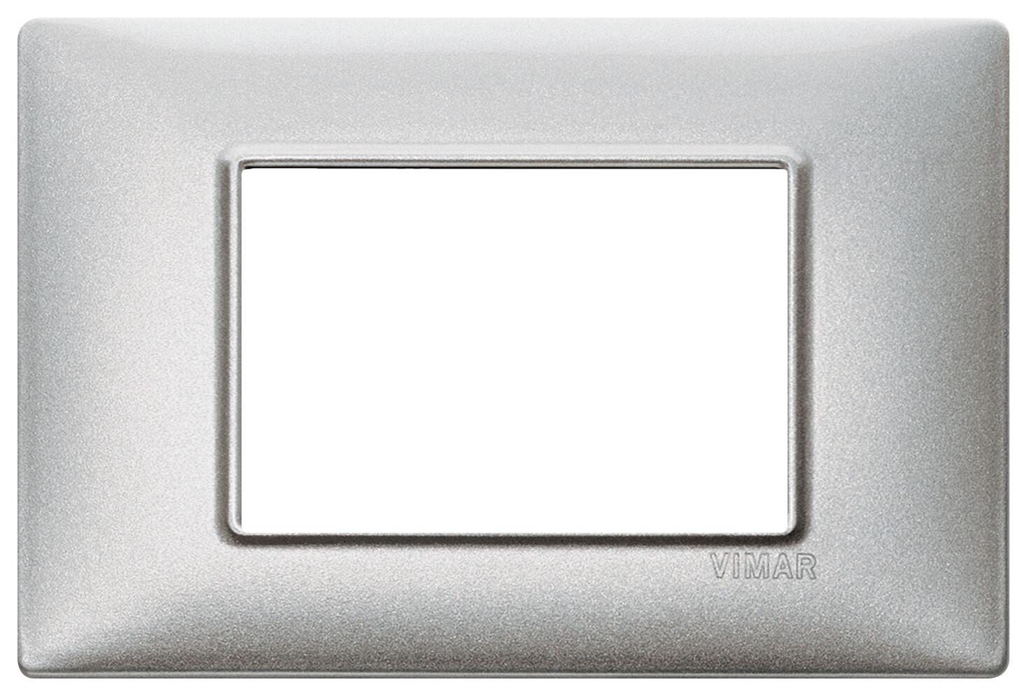 Накладка для 3 модулей серебро металлизированное