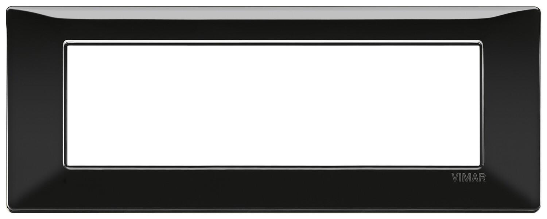 Накладка для 7 модулей черная