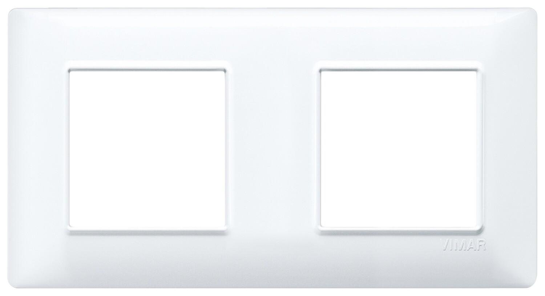 Накладка для 4 модулей (2+2) расстояние между центрами 71мм белая