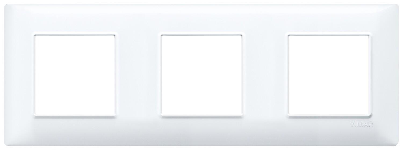 Накладка для 6 модулей (2+2+2) расстояние между центрами 71мм белая