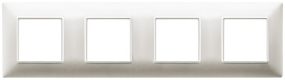 Накладка для 8 модулей (2+2+2+2) расстояние между центрами 71мм шампань матовый