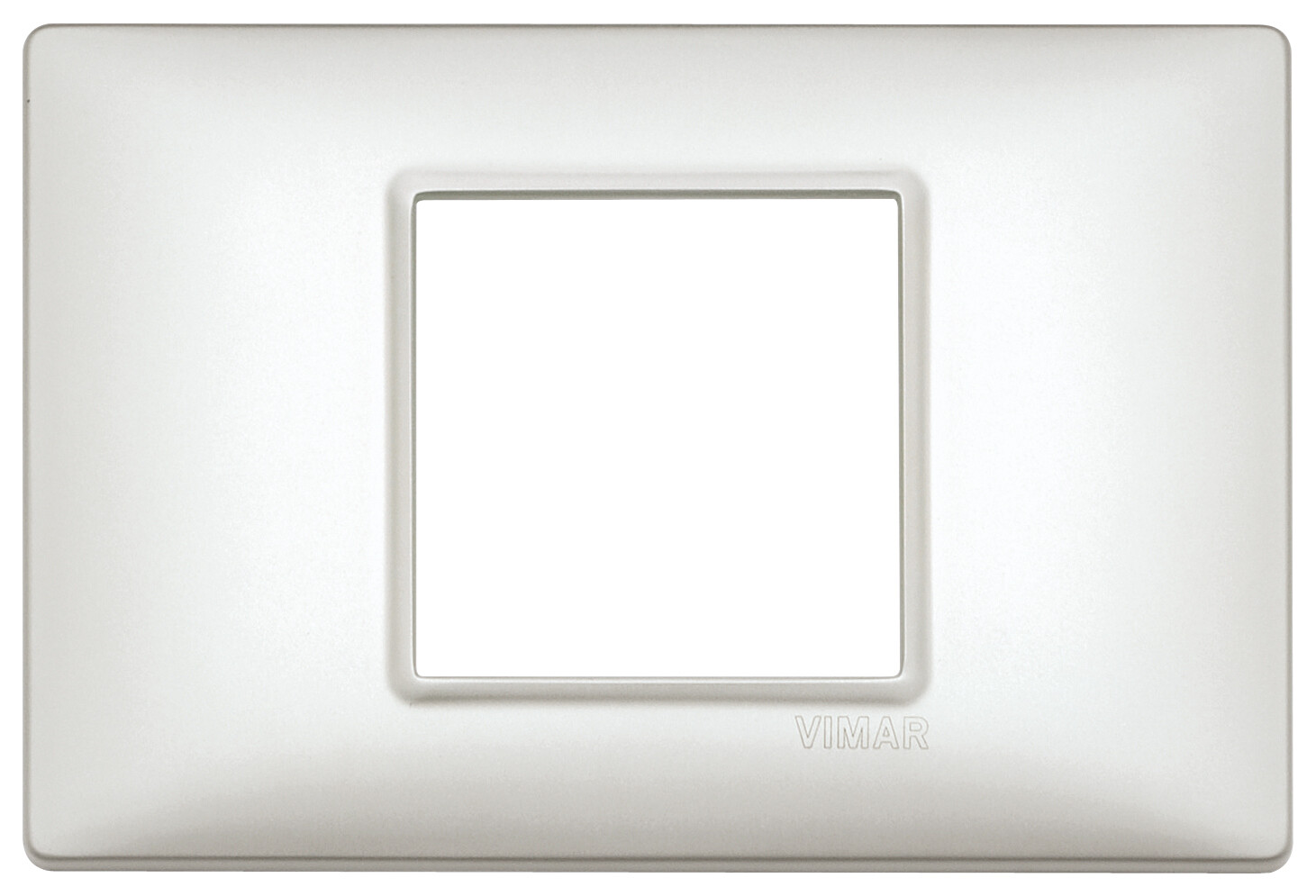 Накладка на 2 модуля центрально серебро перламутровое