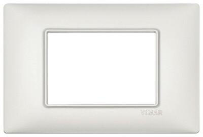 Накладка на 3 модуля серебро перламутровое