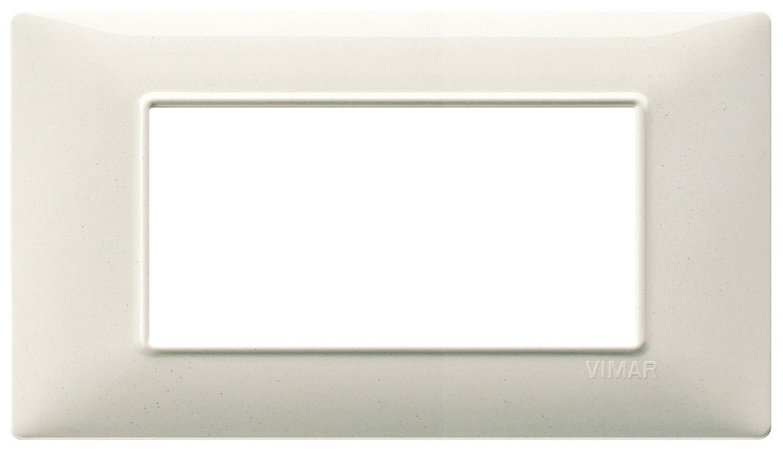 Накладка для 4 модулей белый гранит