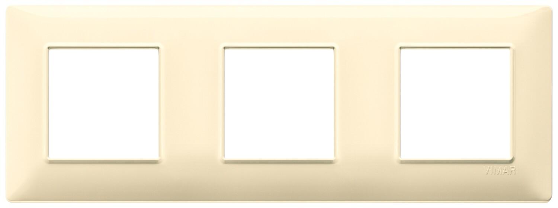 Накладка для 6 модулей (2+2+2) расстояние между центрами 71мм кремовая