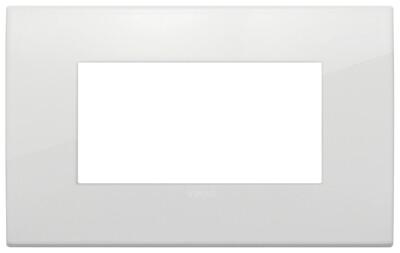 Накладка fit на 4 модуля белый polar матовый