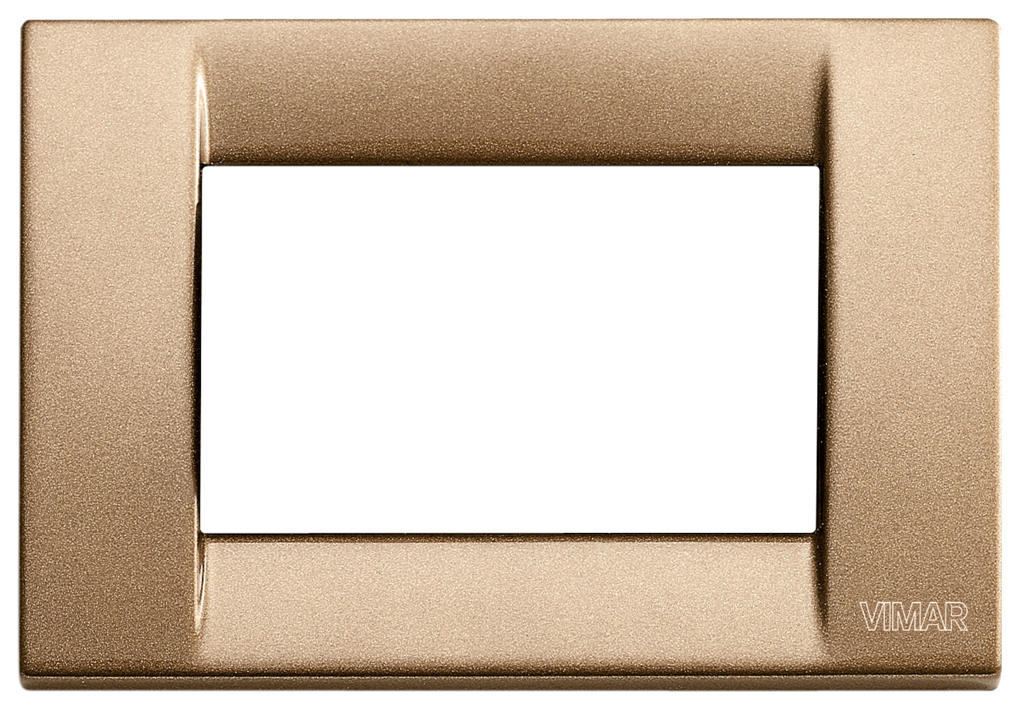 Накладка для 3 модулей металл металлик бронзовый
