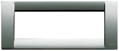 Накладка для 6 модулей металл хром