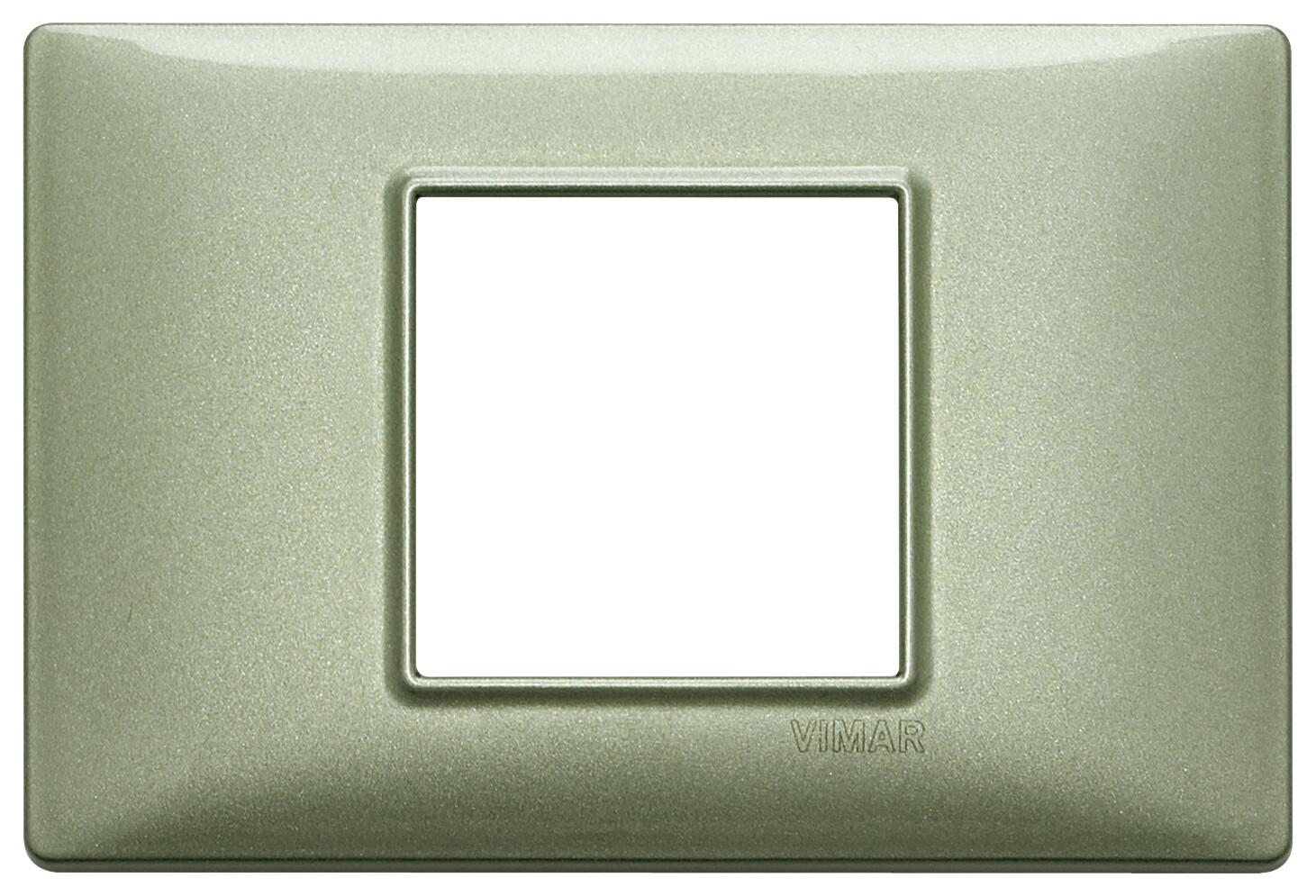 Накладка для 2 модулей центрально зеленая металлизированная