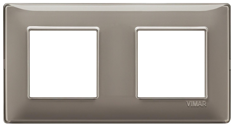 Накладка для 4 модулей (2+2) расстояние между центрами 71мм Reflex пепельная