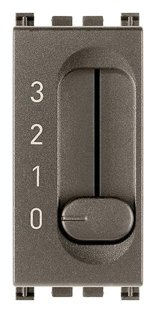 Переключатель 1P 6(2)A 4 позиции, Metal