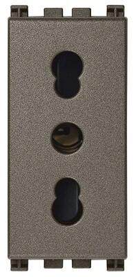 Розетка bpresa 2p+t 16a p17/12, metal