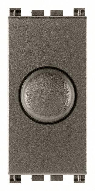 Выключатель с диммированием освещения  230v 100 - 500w поворотный с переключателем, metal