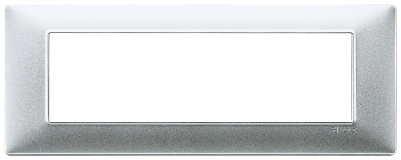 Накладка для 7 модулей серебро матовое