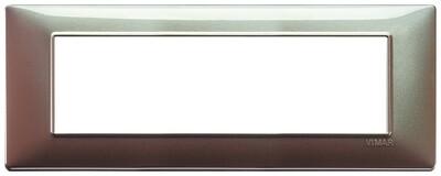 Накладка для 7 модулей коричневая переливающаяся