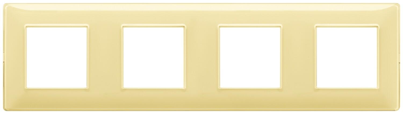 "Накладка для 8 модулей (2+2+2+2) расстояние между центрами 71мм Reflex ""лимон"""