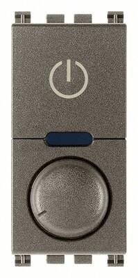 Выключатель с диммированием освещения поворотный ведущий 230V универсальный, Metal