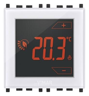 Термостат на 2 модуля 120-230V управление прикосновением, белый
