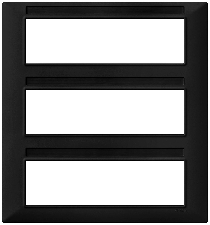 Накладка для 21 модуля (7+7+7), черная