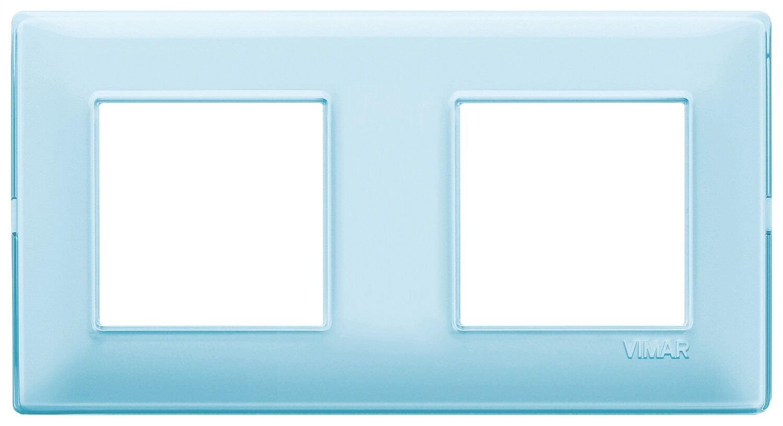 "Накладка для 4 модулей (2+2) расстояние между центрами 71мм Reflex ""вода"""