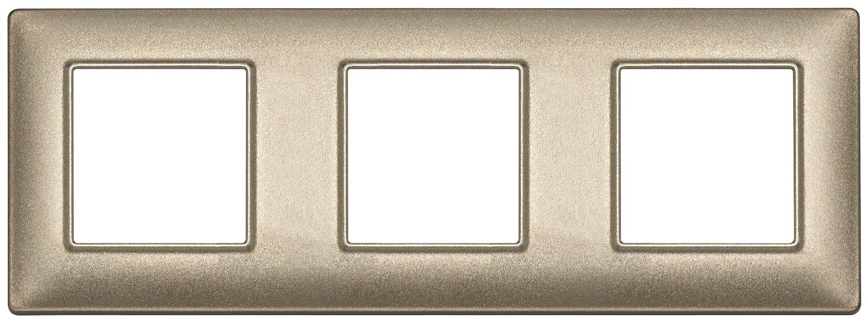 Накладка для 6 модулей (2+2+2) расстояние между центрами 71мм бронза металлизированная