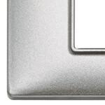 Накладка для 8 модулей (2+2+2+2) расстояние между центрами 71мм серебро металлизированное